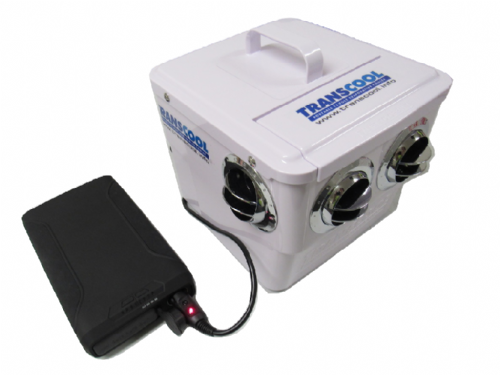 Transcool Evaporative EC3 Air Cooler and 60000mAh Power Pack - Portable Cooling Air Conditioning